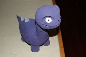 Purple Dinosaur by Solo-The-Loner