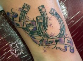 Tell Me I Can't Horseshoes Tattoo by seanspoison