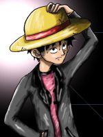 Luffy in Pink by CodeNameZimbabwe