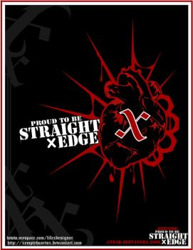 .PROUD TO BE STRAIGHT EDGE. by XEmptyHeartsX