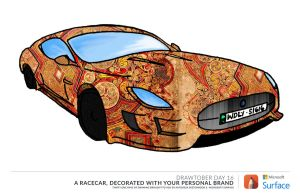 Jag Livery - Drawtober 16th by Willsdarklady