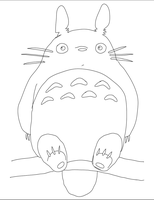 Vectored Sketch Totoro by ProNorst