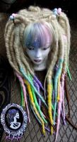 Pastel Dread Wig by Candy-Toxin