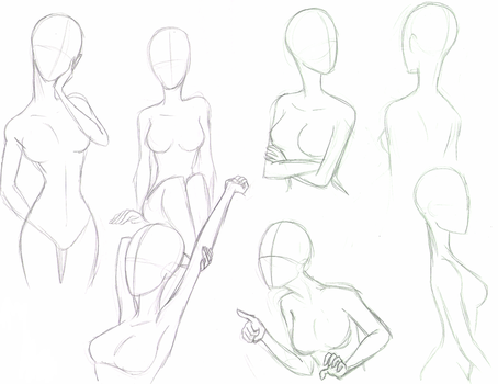 Practice with female poses by Itsy-Bitsy-Spyder