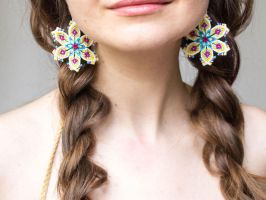 Bohemian Thread Earrings by floriknoture