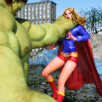 Supergirl - Grabbed by the Hulk by Transformerman