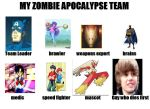 my Zombie Apocalypse Team by acerr85