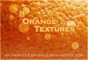 8 Orange Textures by infinityexplorer