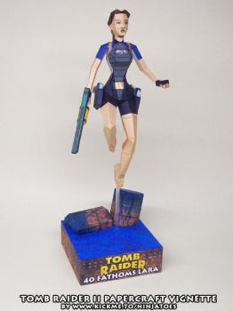 papercraft Tomb Raider II 40 Fathoms Lara by ninjatoespapercraft