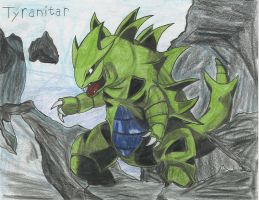 Tyranitar by DraconSteel