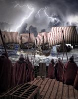 The Vikings are Coming by arawyndesigns