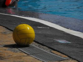 'Artistic' water polo ball by JenniMGF
