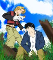 FMA Fanart - Roy and Ed by whyyy