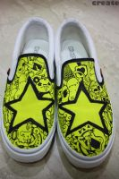 Custom Slip On - Yellow Star by injuryordeath