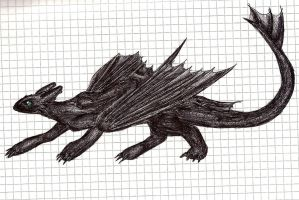 Toothless drawing by IcelectricSpyro