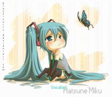 Why so sad? Hatsune Miku by Black-Curls