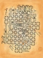 Dungeon map based on free tiles by billiambabble