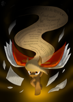 I Am the Words :: Page Turner by DragonwolfRooke