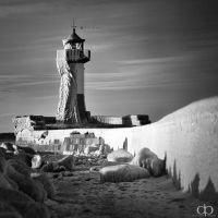 Iced Lighthouse by Dapicture