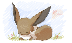 Little eevee.. by Cocoroll
