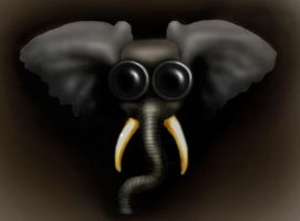Gas Mask Elephant by Lienna28