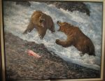 Bears acrylic painting by Hagge