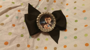 10th Doctor Bow by JosiesClayShoppe