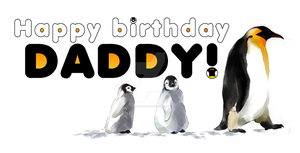 Penguin birthday card by Firnheledien