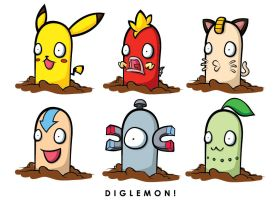 Pokemon Diglett DIGLEMON by Aniteen9