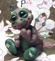 polymer clay ooak dragonfly by crazylittlecritters