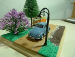 VW Beetle and Kombi Diorama by evandrominiaturas