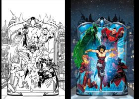 JUSTICE LEAGUE 3000 Cv1 by DustinYee