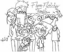 Flynn-Fletcher Family by natyphineasferbfan