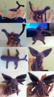 Espeon felt WIP by Turtle-Duck