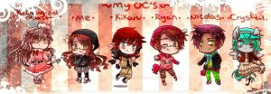 [Winter-ish Outfits] - Official Chibi OCs by xXKikaru-ChanXx