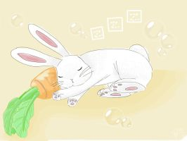 Sleeping Bunny  by simmeyliew