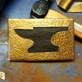 Leather Anvil Bronze Buckle by patchwork-steve
