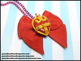 Super Sailor Moon Brooch Necklace by GrandmaThunderpants
