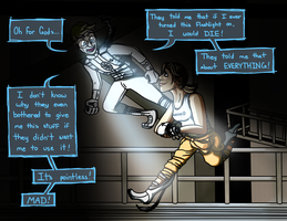 Portal 2 - Android Wheatley and Chell by Zubious