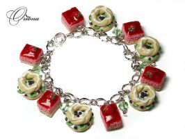 Kiwi fruit and strawberries by OrionaJewelry