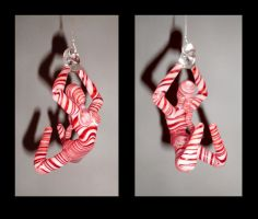 Candy Cane Hanging Figure, 4' by cold-in-the-north