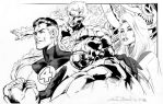 Daily Sketches Ink Alan Davis' Fantastic Four by fedde