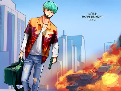 Happy Suga day by Yibiart