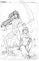 Xombie issue 2 cover pencils by ColtNoble