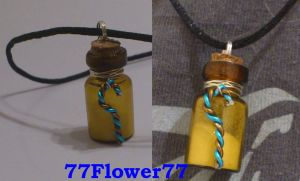 Jack frost ROTG inspired necklace by 77Flower77