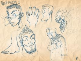 Train Sketches 1 by Zatransis