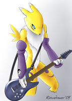 Renamon, Guitar... Insane Solo by renadrawer