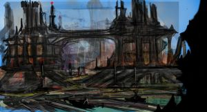 Rough concept landscape by BourneLach
