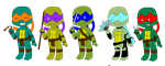 Chibi TMNT 2003 version by Anette1989