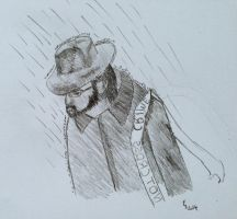 In The Rain - Initial Sketch by Englisheddie